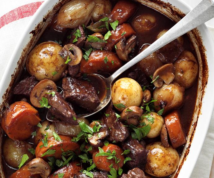 Rich beef casserole