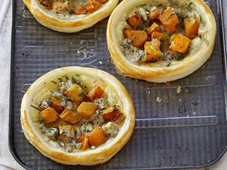 Roast Pumpkin and Blue Cheese Tarts