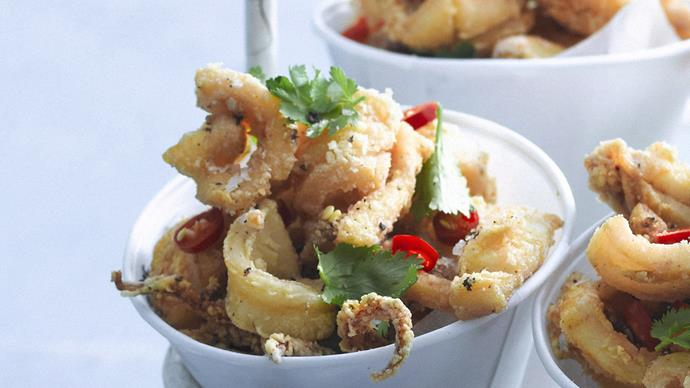 Salt and pepper baby squid