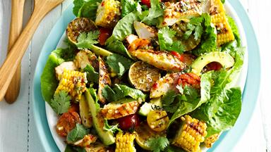 Sweet chilli chicken and corn salad