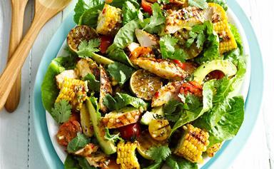 Sweet chilli chicken and corn salad