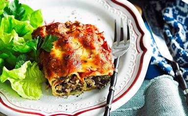 Lamb and silverbeet cannelloni