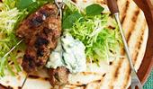 Lamb kofta with cucumber yoghurt