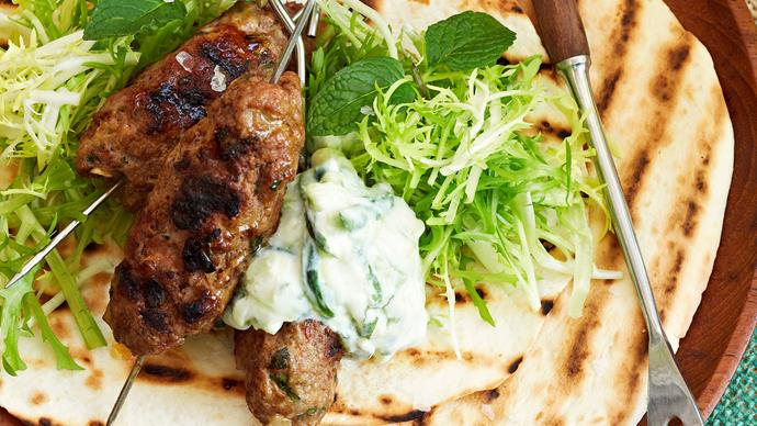 Lamb kofta with cucumber yogurt