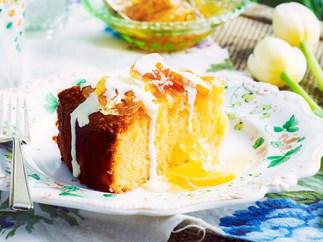 Lemon Polenta Cake with Lemon Compote