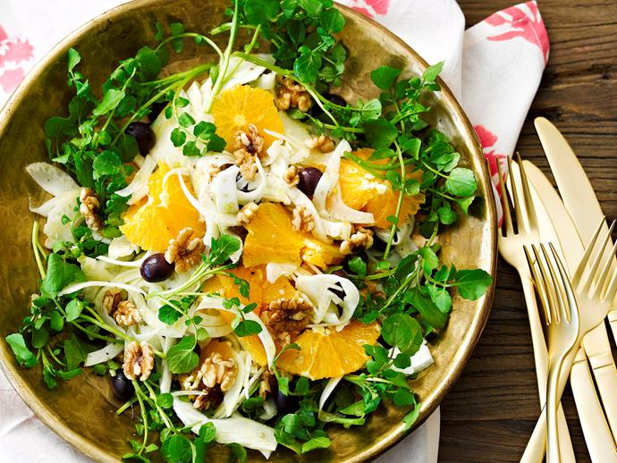 "[Orange and fennel salad](https://www.womensweeklyfood.com.au/recipes/orange-and-fennel-salad-23802|target=""_blank"")"