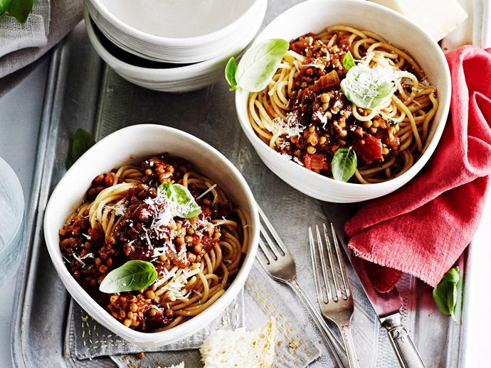 """This pasta with **[mushrooms and lentils recipe](https://www.womensweeklyfood.com.au/recipes/pasta-with-mushrooms-and-lentils-27109