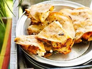 Pumpkin and chilli quesadillas