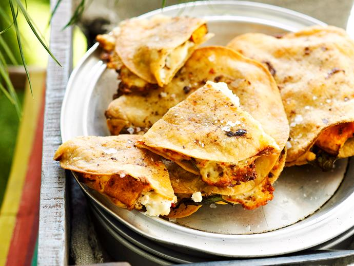"""**[Pumpkin and chilli quesadillas](https://www.womensweeklyfood.com.au/recipes/pumpkin-and-chilli-quesadillas-27113