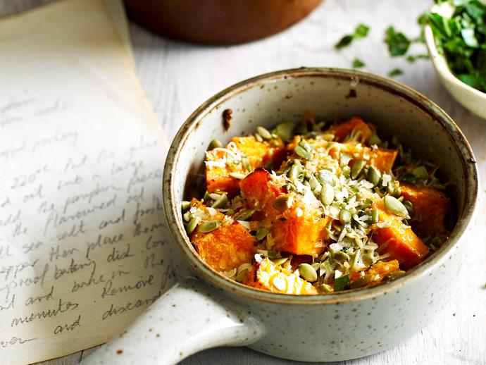 """This hearty vegetarian dish is so simple and tastes so good you'll soon be adding [pumpkin bake](https://www.womensweeklyfood.com.au/recipes/pumpkin-bake-27520