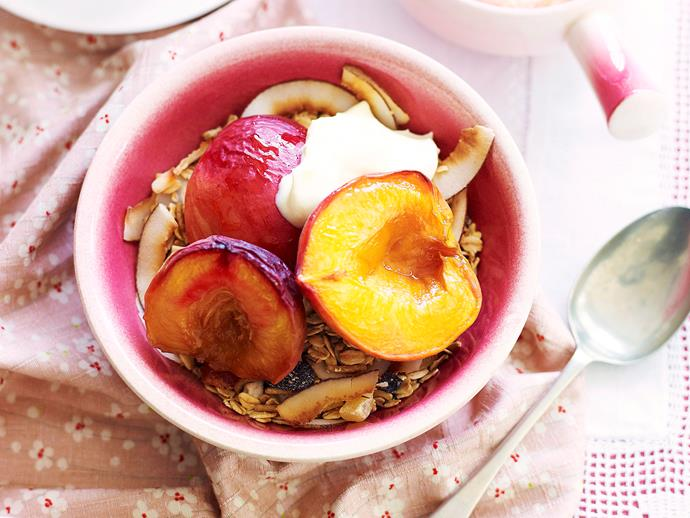[Roasted peach and nectarine compote](http://www.foodtolove.com.au/recipes/roasted-peach-and-nectarine-compote-4771).