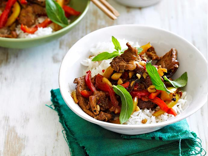 "**[Vietnamese pork stir-fry](https://www.womensweeklyfood.com.au/recipes/vietnamese-pork-stir-fry-23818|target=""_blank"")**  This quick stir-fry is all about the heat and the crunch. Accompanied with steamed rice, this recipe is an ideal mid-week dinner plan."
