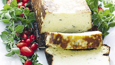 Baked ricotta cheese