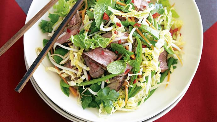 Beef and Crunchy Cabbage Salad