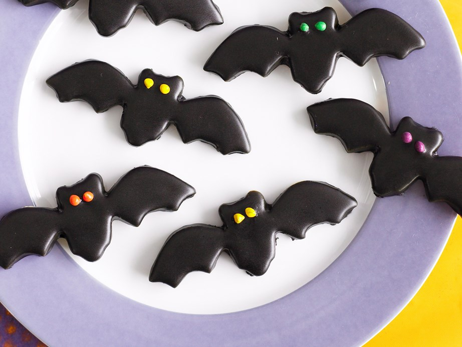 Black bat  halloween cookies