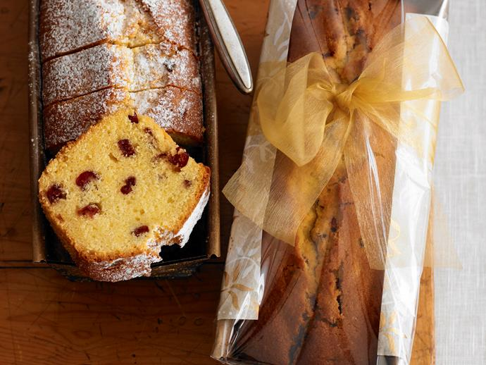 "**[Buttery almond and cranberry loaves](https://www.womensweeklyfood.com.au/recipes/buttery-almond-and-cranberry-loaves-28305|target=""_blank"")**  Sweet, fluffy and buttery, these gorgeous dessert loaf stuffed with crunchy almonds and sweet, juicy cranberries is beautiful served warm out of the oven, sliced and enjoyed with a pot of tea."