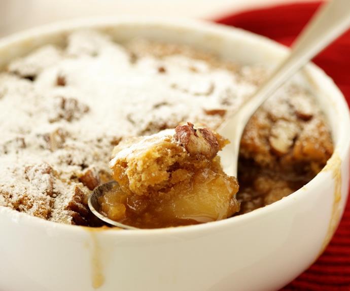 Caramel Pear Self-saucing Puddings