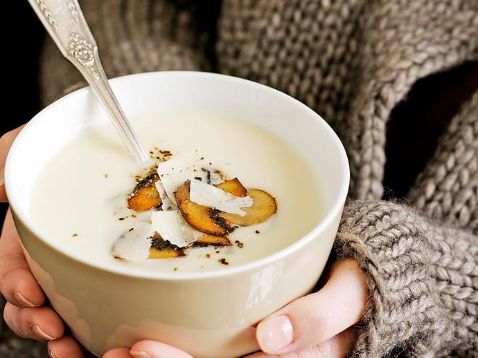 "**[Cauliflower cream soup with mushrooms](http://www.womensweeklyfood.com.au/recipes/cauliflower-cream-soup-with-mushrooms-27148|target=""_blank"")**  This creamy and fragrant vegetable soup is a classic winter warmer for good reason."