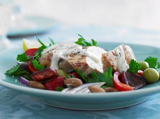 Chicken and Chorizo Salad with Garlic Mayonnaise