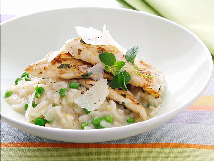 "This simple [chicken and lemon risotto](https://www.womensweeklyfood.com.au/recipes/chicken-and-lemon-risotto-27157|target=""_blank"") is a midweek dinner saviour."