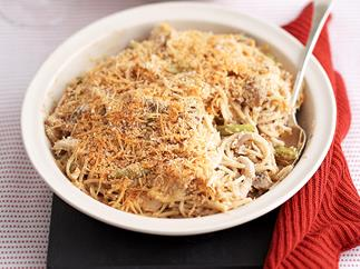 Chicken Carbornara Baked Pasta