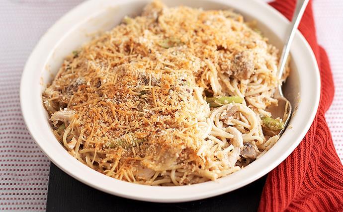 Chicken Carbornara Baked Pasta