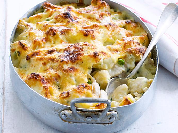 """**[Chicken macaroni cheese](https://www.womensweeklyfood.com.au/recipes/chicken-macaroni-cheese-28177