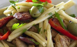 Chicken, chorizo and capsicum pasta