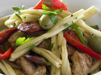 Chicken, chorizo and capsicum pasta