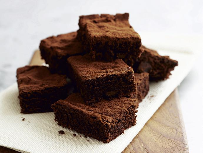 "**[Chocolate brownies](http://www.womensweeklyfood.com.au/recipes/chocolate-brownies-1-27163|target=""_blank"")**"