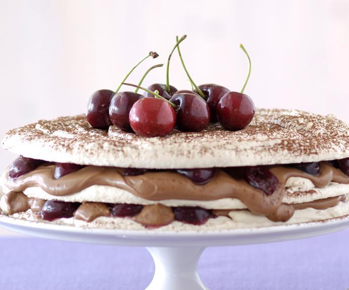 Chocolate Cherry Dacquoise