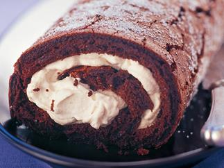 Chocolate Roulade With Coffee Cream
