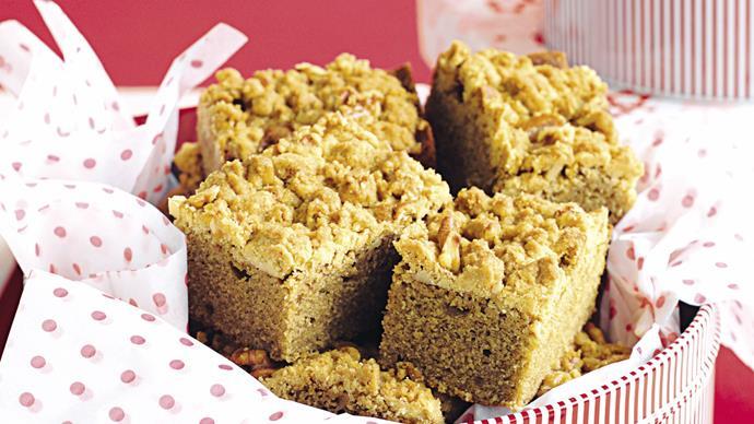 Coffee Walnut Streusel Cake