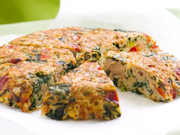 "[Crispy spinach and tuna rice cake](https://www.womensweeklyfood.com.au/recipes/crispy-spinach-and-tuna-rice-cake-27174|target=""_blank"")  Packed with mind-sharpening ingredients, this wholesome rice cake is a fantastic option to recharge at lunchtime."