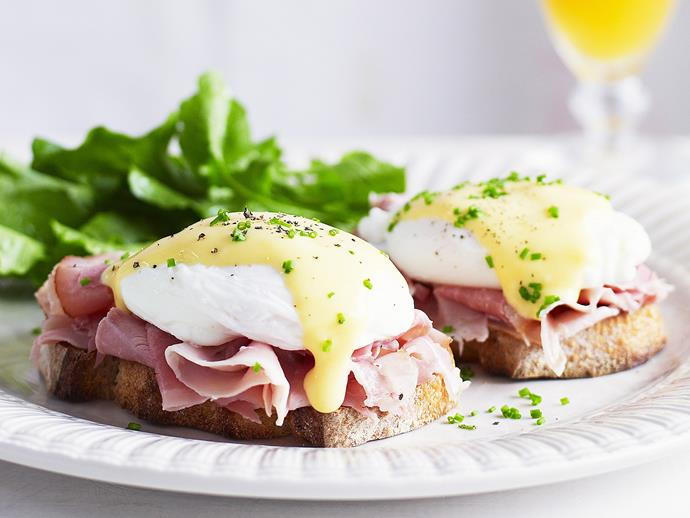 "Add extra flavour to our **[classic eggs benedict recipe](https://www.womensweeklyfood.com.au/recipes/eggs-benedict-27384|target=""_blank"")** with this creamy and tangy hollandaise sauce."