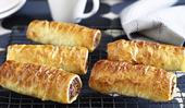 Low fat beef sausage rolls