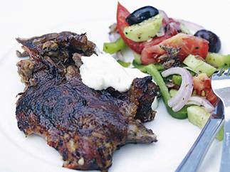 FESTIVE GREEK LAMB ON A SPIT