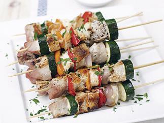 Fish Kebabs (psari souvlaki)