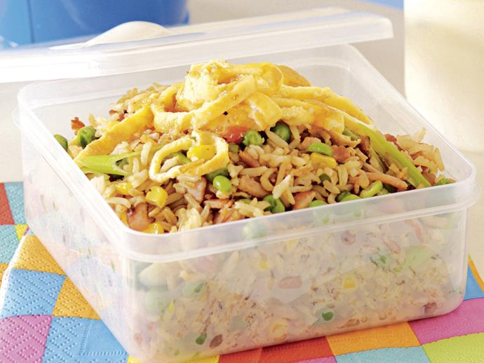 """With peas, corn and onion this [fried brown rice dish](https://www.womensweeklyfood.com.au/recipes/fried-brown-rice-26556