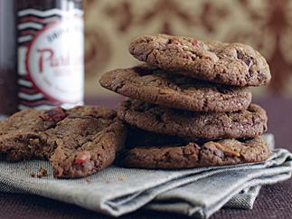 Fudgy Choc-Cherry Biscuits