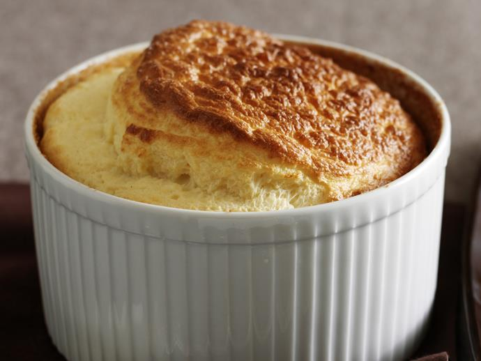 """Golden, fluffy and infused with the glorious flavour of creamy gruyere cheese, this divine [French savoury souffle](https://www.womensweeklyfood.com.au/recipes/gruyere-souffle-27952