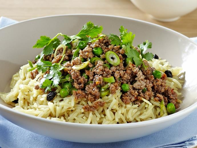 "**[Indian rice pilaf with spiced beef](https://www.womensweeklyfood.com.au/recipes/indian-rice-pilaf-with-spiced-beef-26563|target=""_blank"")**  This Indian-inspired soft rice with spicy beef makes for an aromatic, flavour-packed side or main dish for those left craving more."