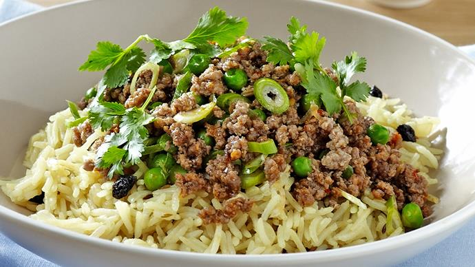 Indian Rice Pilaf with Spiced Beef