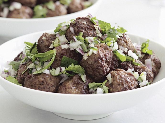 [Lamb meatballs with mint and coriander chutney](http://www.foodtolove.com.au/recipes/lamb-meatballs-with-mint-and-coriander-chutney-4097).