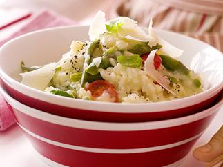 MICROWAVE SPRING VEGETABLE RISOTTO
