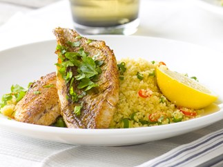 MIDDLE-EASTERN FISH WITH SPICED COUSCOUS