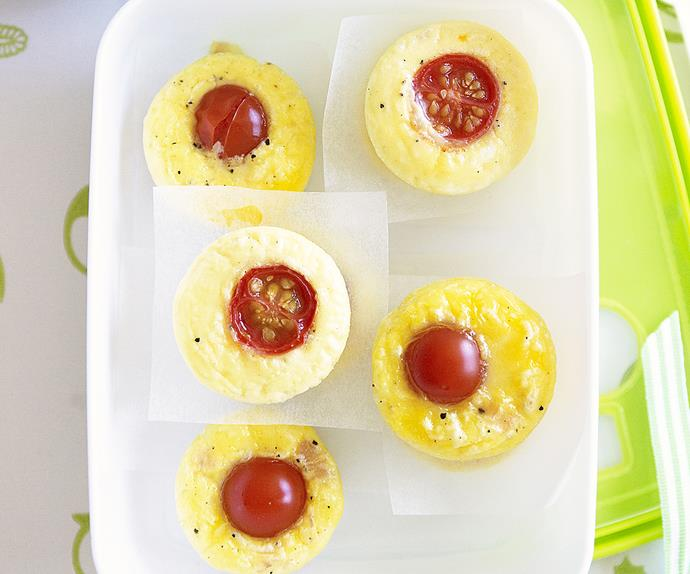 MINI HAM, CHEESE AND TOMATO FRITTATAS