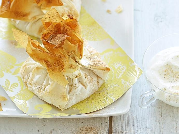 """**[Mixed fruit, ricotta and almond parcels](https://www.womensweeklyfood.com.au/recipes/mixed-fruit-ricotta-and-almond-parcels-26586