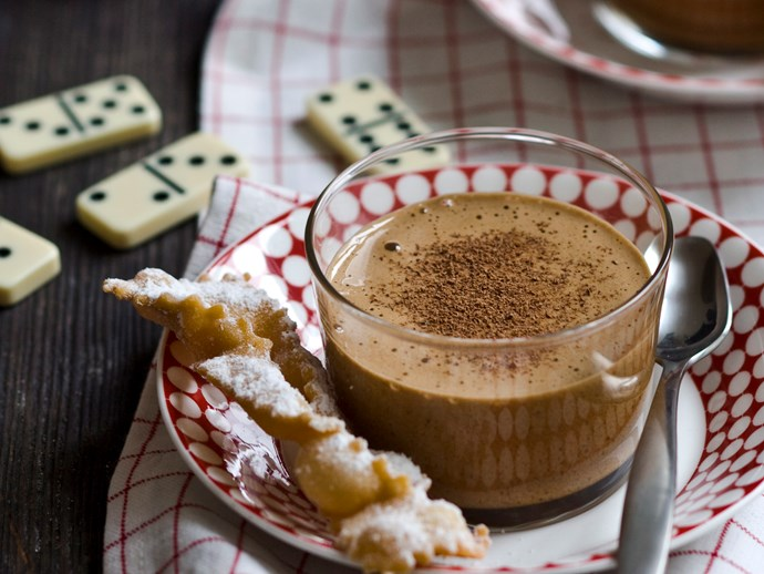 **10 minutes**. [Mocha zabaglione via Food To Love](http://www.foodtolove.com.au/recipes/mocha-zabaglione-4871).