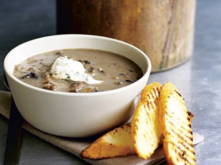 Mushroom Sauce with herbed Creme Fraiche